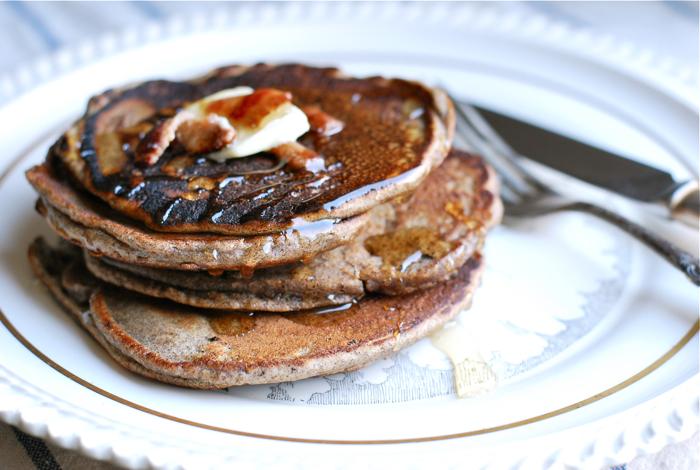 buckwheat bacon pancakes
