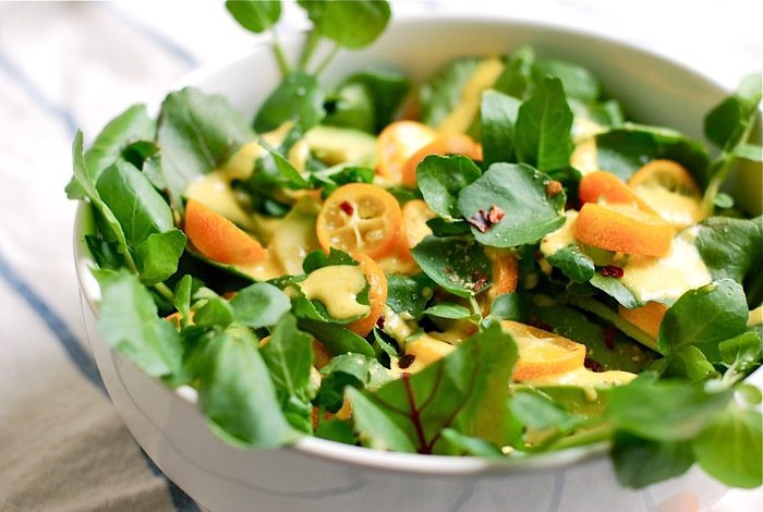 watercress kumquat salad