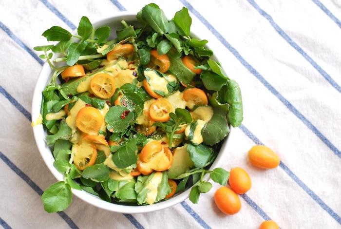 watercress kumquat salad