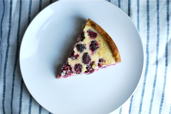 Blackberry cheesecake tart via brooklynsupper.net