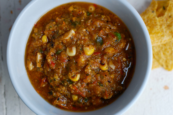 Roast tomato salsa recipe, via brooklynsupper.net; ©Brooklyn Supper, all rights reserved