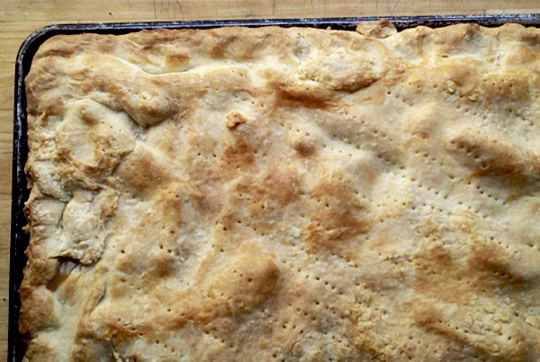 Apple slab pie recipe, via brooklynsupper.net; © Brooklyn Supper 2012, all rights reserved