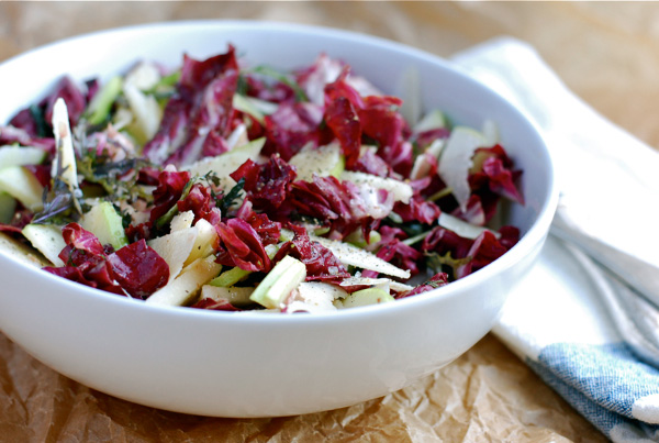 Radicchio salad with fresh pear vinaigrette, via brooklynsupper.net; © Brooklyn Supper, all rights reserved