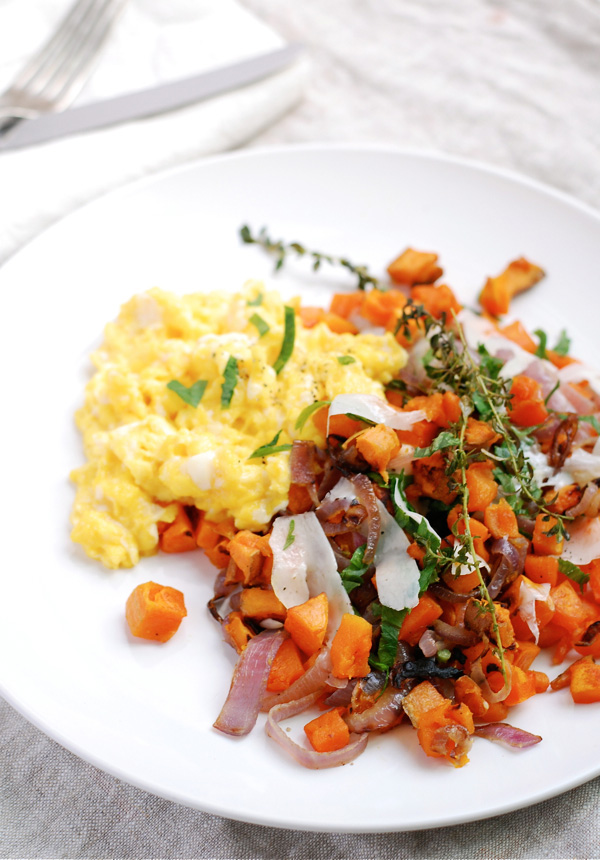 Butternut squash and sweet potato hash, via brooklynsupper.net; © Brooklyn Supper 2012, all rights reserved