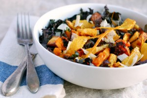 redbor kale salad with butternut squash and orange // brooklyn supper