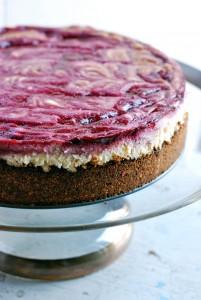 blackberry swirl cheesecake recipe // brooklyn supper
