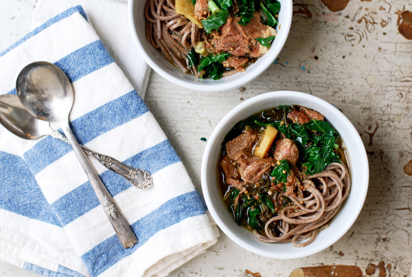 honey ginger braised pork with kale // brooklyn supper