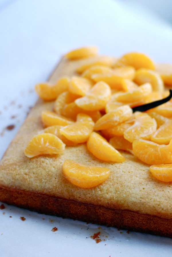 vanilla citrus cornmeal cake with poached clementines // brooklyn supper