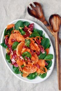 radicchio, carrot & cara cara orange bulgar salad // brooklyn supper