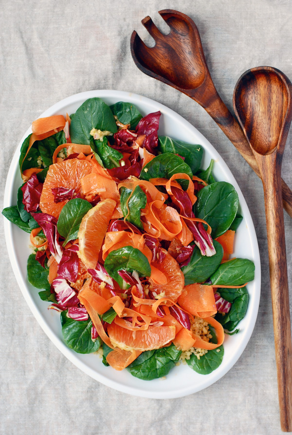 radicchio, carrot & cara cara orange bulgar salad // brooklyn supper