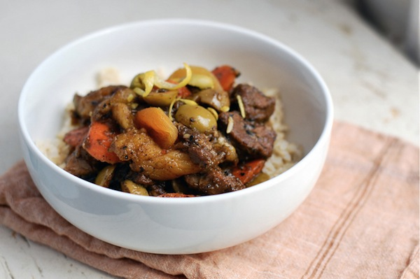 lamb tagine with apricots & olives