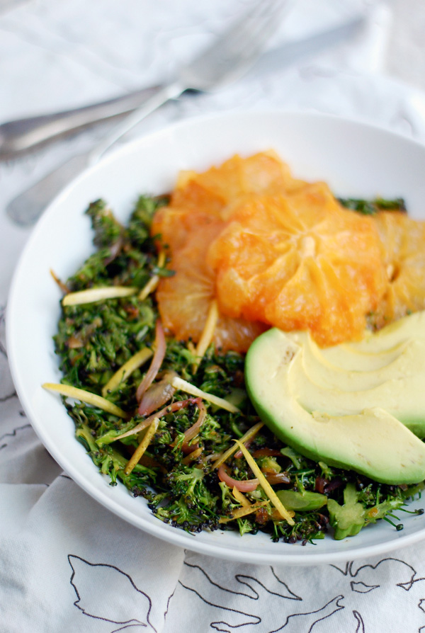 broccoli slaw with caramelized grapefruit & avocado // brooklyn supper