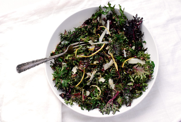 lemon parmesan raw kale salad // brooklyn supper
