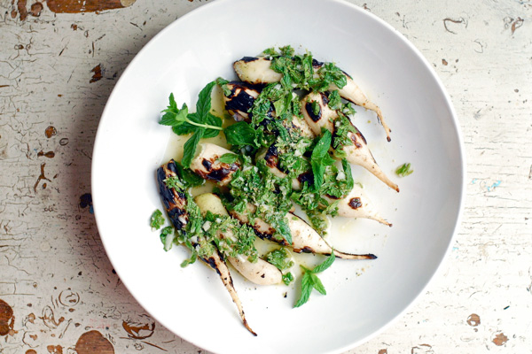 grilled radishes with mint and lime // brooklyn supper