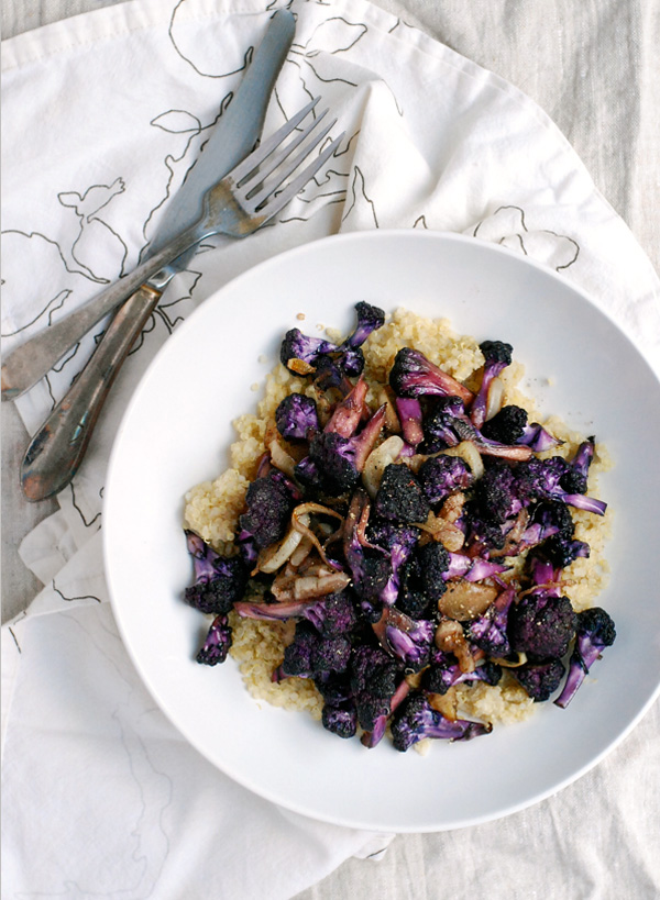 purple cauliflower with garlic and saffron // brooklyn supper