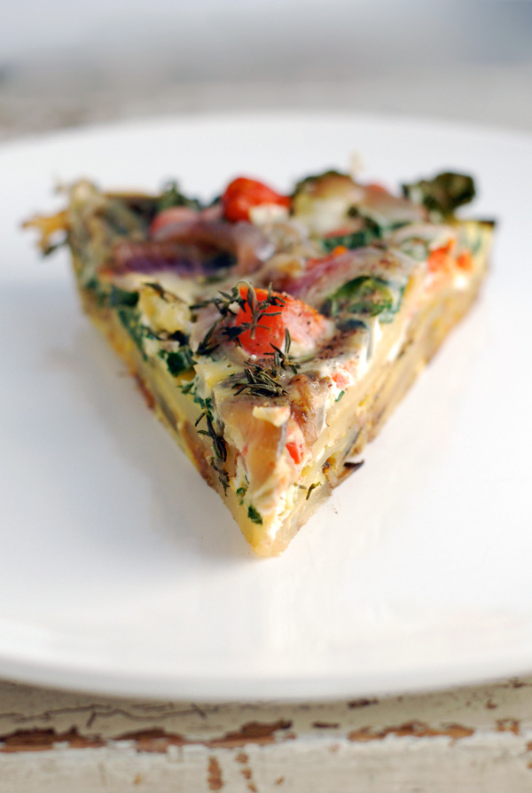 roasted potato, kale & tomato frittata + a klondike brands giveaway ...