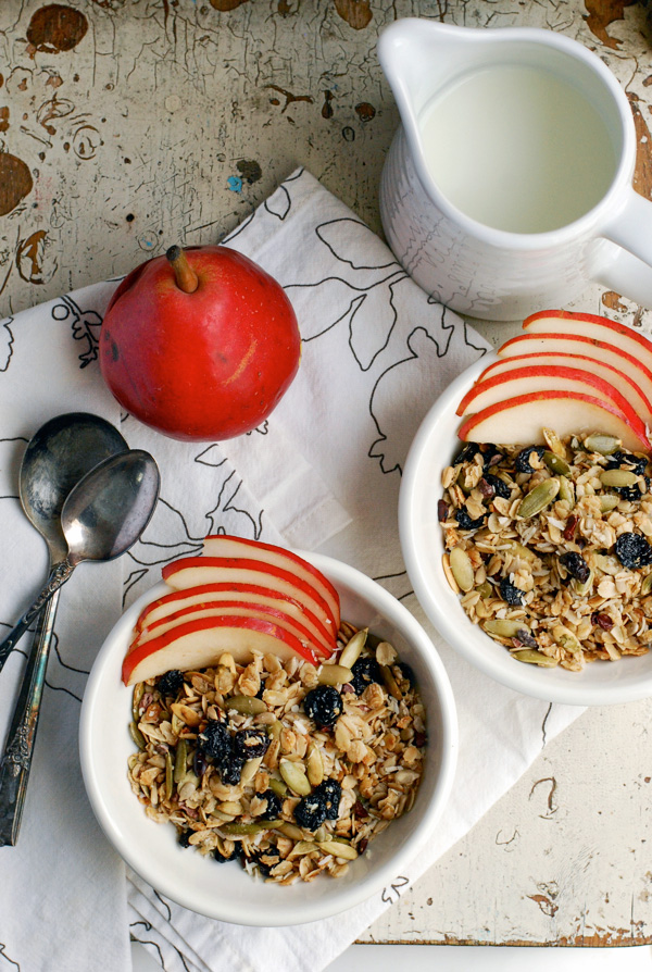 tart cherry & cacao nib granola // brooklyn supper