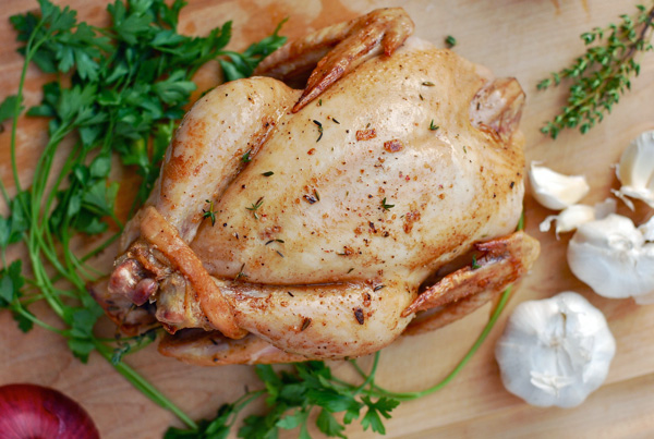 classic roast chicken with garlic and thyme // brooklyn supper