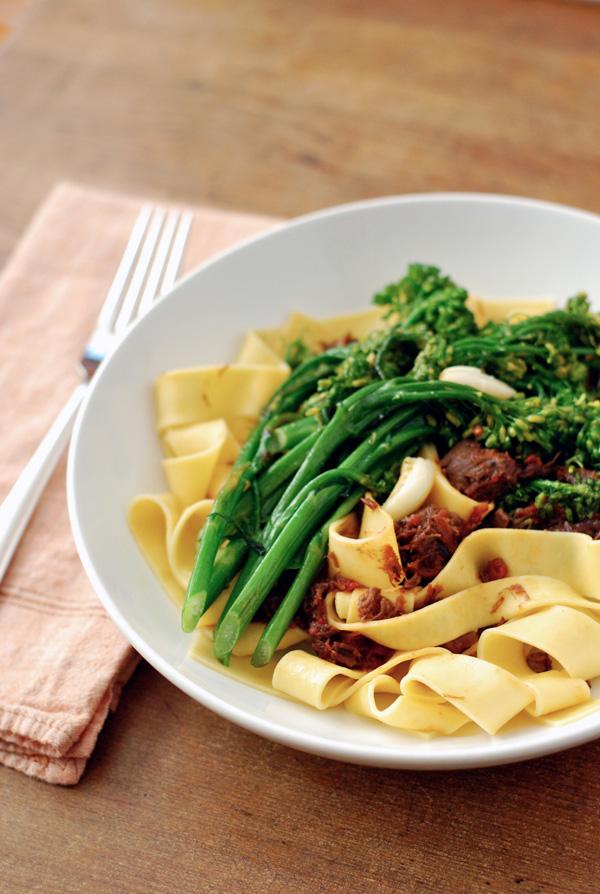 beef shank ragu with broccolini // brooklyn supper