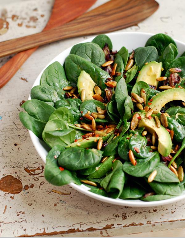 avocado and spinach salad // brooklyn supper