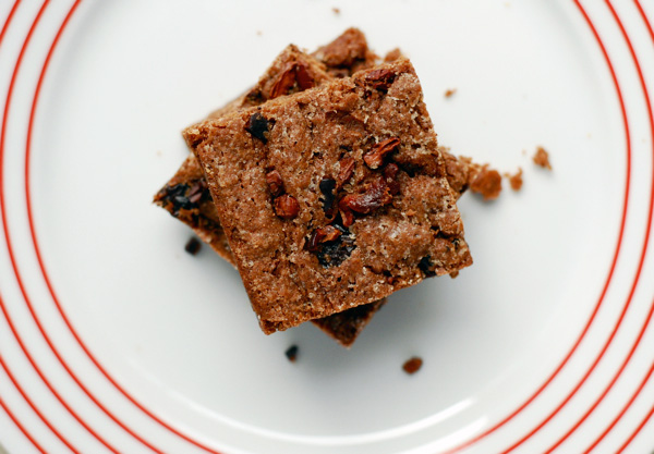 dried cherry and cacao nib brownies // brooklyn supper