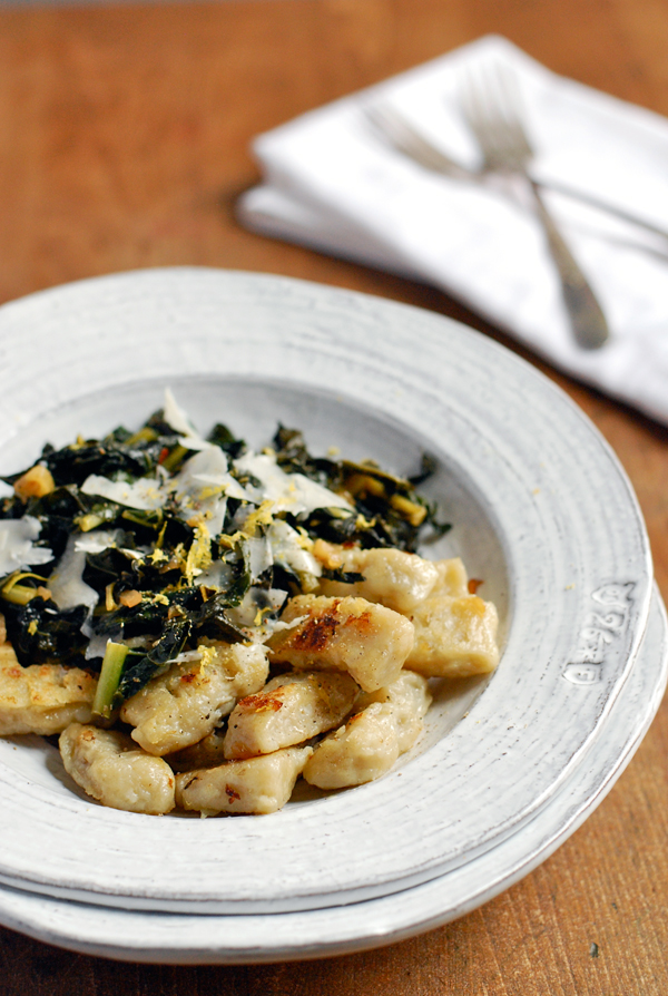 sun choke gnocchi with sautéed kale // brooklyn supper