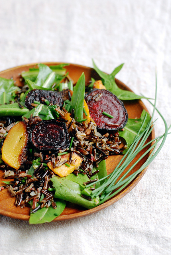 wild rice salad with dandelion greens // brooklyn supper