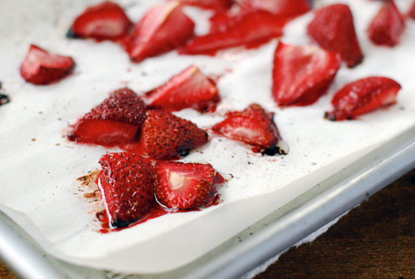 roasted strawberries and coconut cream // brooklyn supper