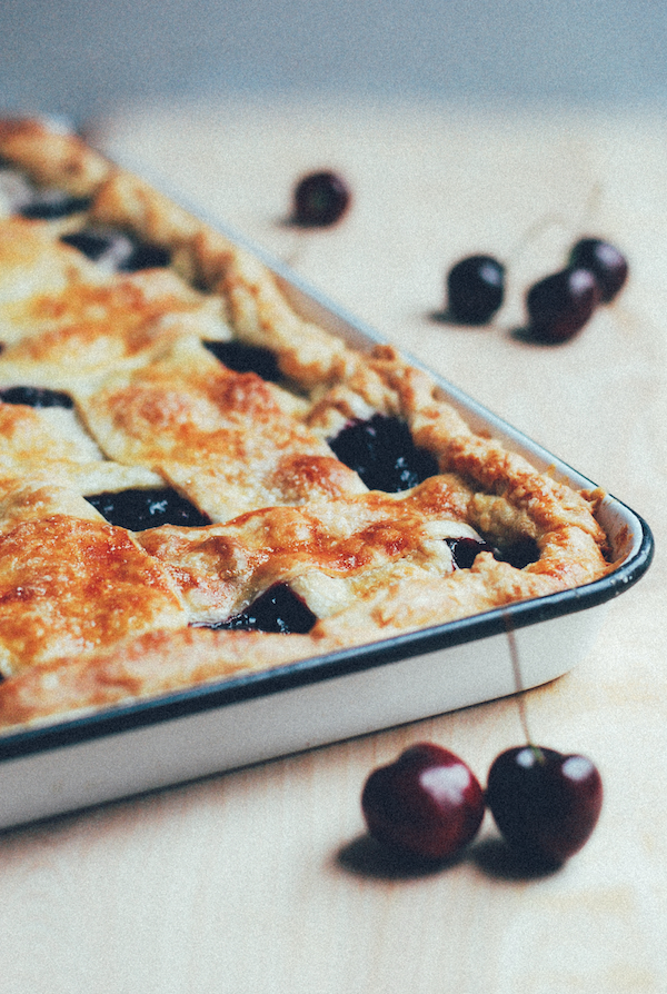 bing cherry slab pie // brooklyn supper