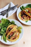 fish tacos with heirloom tomatoes and peach salsa // brooklyn supper