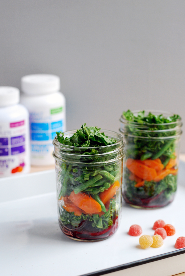 layered salad in a jar // brooklyn supper