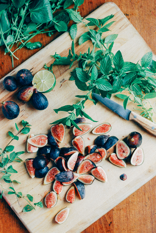 fig and cantaloupe salad with watercress // brooklyn supper