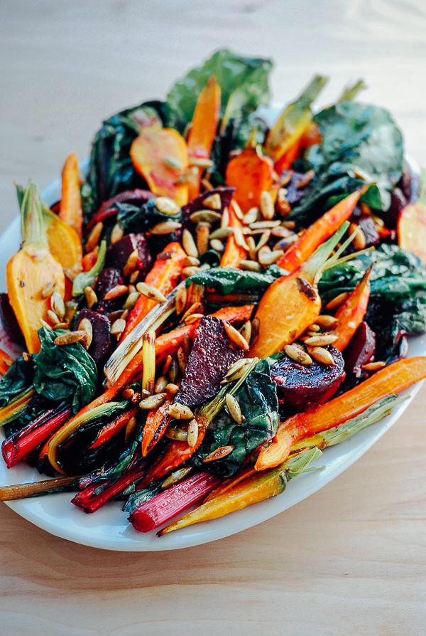 roasted vegetable salad // brooklyn supper for with food + love