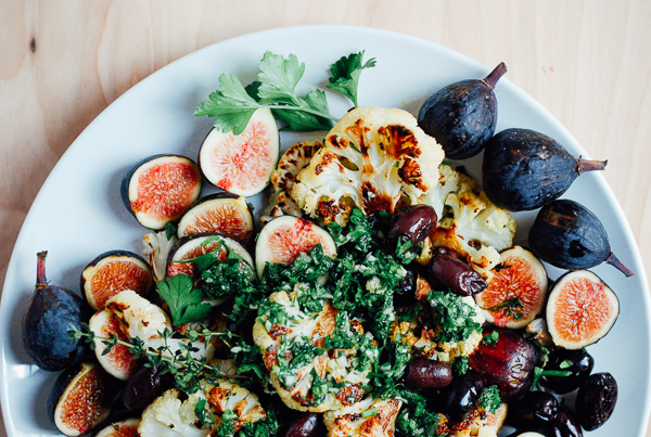 roasted cauliflower with figs and olives + the best art school advice