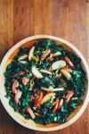 kale salad with sautéed apples // brooklyn supper