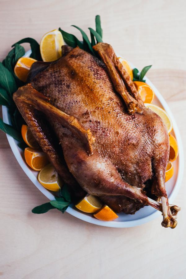 roast christmas goose // brooklyn supper