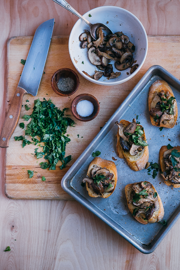 herbed mushroom toasts // brooklyn supper