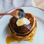 cornmeal pancakes with honey orange syrup + a brown eggs and jam jars giveaway
