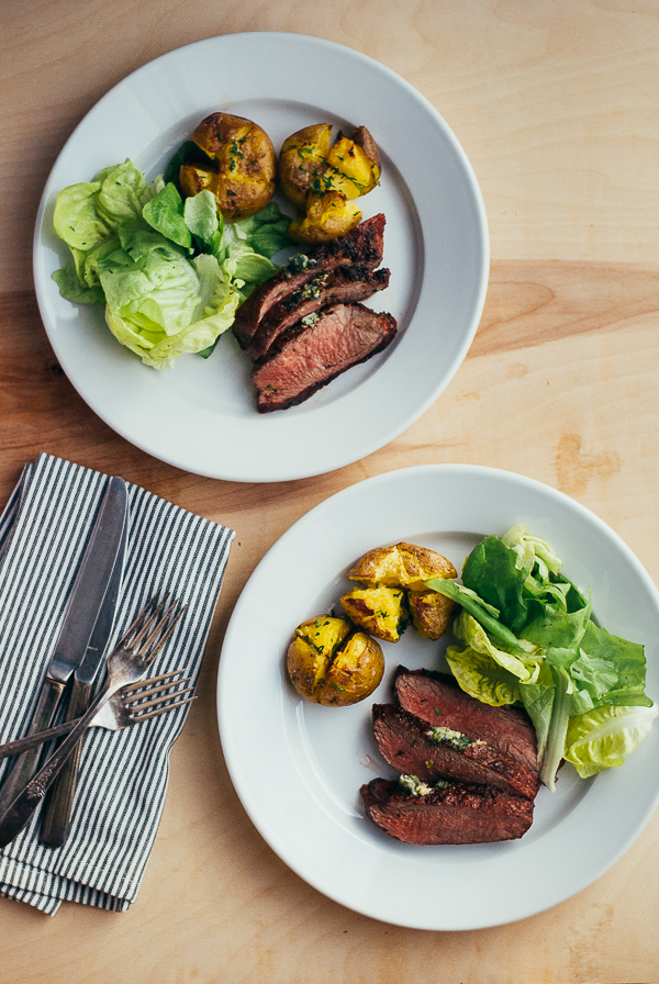 grilled steaks with horseradish herb butter // brooklyn supper