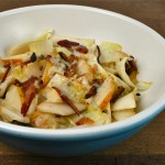 belgian endive salad with pear and bacon