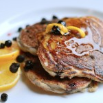 meyer lemon pancakes with blueberries