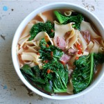 potlikker soup with ham hock and egg noodles