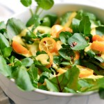 watercress salad with kumquat dressing