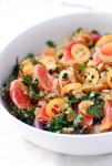kale and farro salad with citrus