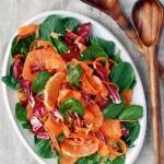 lightness + radicchio, carrot & cara cara orange bulgar salad