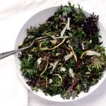 lemon parmesan raw kale salad
