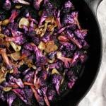purple cauliflower with garlic & saffron
