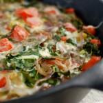 roasted potato, kale & tomato frittata + a klondike brands giveaway {sponsored post}