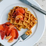 sweet potato waffles + thoughts on food waste