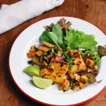 grilled polenta with zucchini salsa + the homemade flour cookbook giveaway